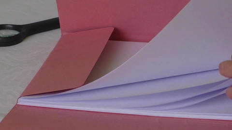 Paper card Stock Video Footage
