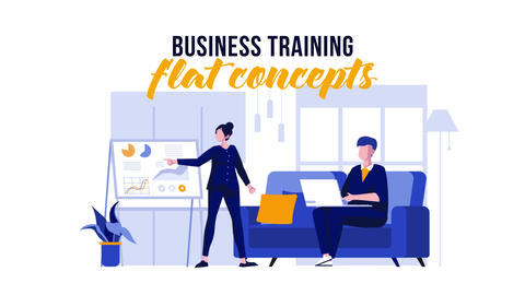 Business training - Flat Concept After Effects Template