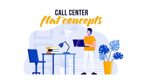 Call center - Flat Concept After Effects Template