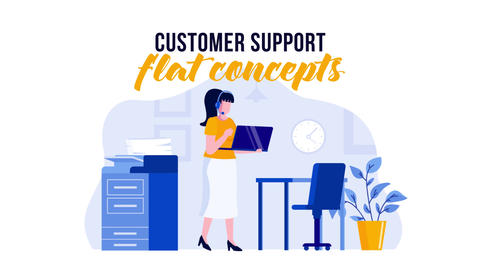 Customer support - Flat Concept After Effects Template