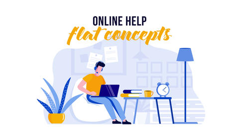 Online help - Flat Concept After Effects Template