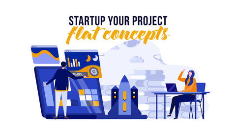 Startup your project - Flat Concept After Effects Template