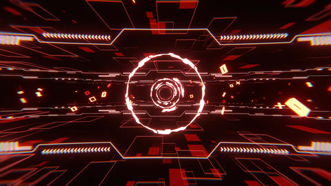 VJ loop bg bga cg DJ bms Procedural Abstract cyber tunnel particle [There is another version] Animation
