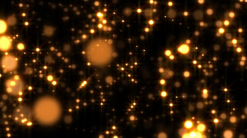 Golden Glow Globes Echo Abstract Particle Motion Background Loop 1 Animation