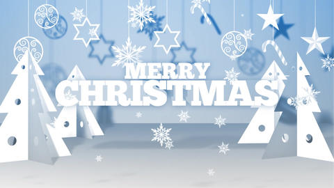 Paper Christmas Wishes After Effects Template