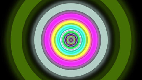 Endless Colorful Circle Tunnel Hypnotic Abstract VJ Motion Background Loop 2 Animation