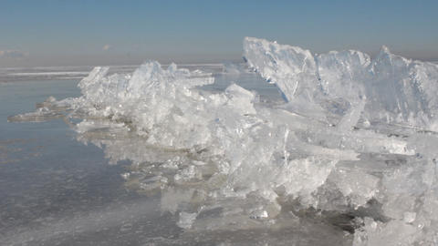 Process of compression of ice on sea, formation of torsos 1 Live Action