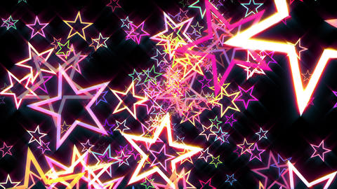 Colorful Disco Retro Stars Burst Psychedelic Motion Background Loop rotate left Animation