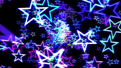 Blue Disco Retro Stars Burst Psychedelic VJ Motion Background Loop Animation