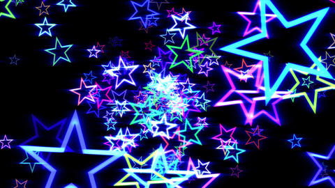 Blue Disco Retro Stars Burst Psychedelic VJ Motion Background Loop rotate right Animation