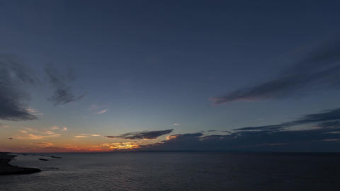 Sun set over the sea of japan ( Niigata Port )影片素材