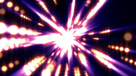 Colorful Warm Spheres Light Rays Burst VJ Motion Background Loop Animación