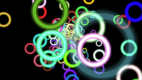Vibrant Colorful Rings Particles Disco Burst VJ Motion Background Loop Animation