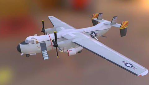 Grumman c 2 greyhound 3D Model