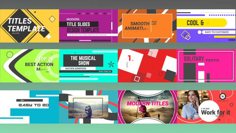 Title Slides After Effects Template