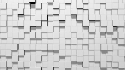 Minimal Modern White Cubes Abstract modern cubes squares white squares pattern Animation
