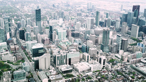 Aerial sequence of toronto canada 5 Live Action