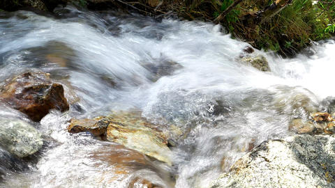 The water after the waterfall in the valley of the Issyk-Ata, Kyrgyzstan Footage