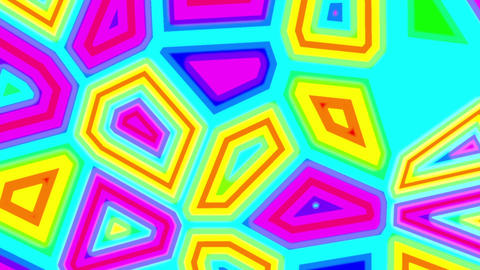 Colorful Psychedelic Fluid Cells Abstract Retro Motion Background Loop CG動画