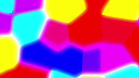 Colorful Liquid Glow Polygons Psychedelic Retro Motion Background Loop CG動画
