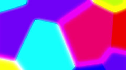 Colorful Liquid Glow Polygons Psychedelic Retro Motion Background Loop Big CG動画