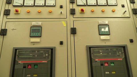 switchgear and power switches in a power electric substation Live Action