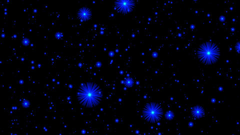 Deep Blue Stars Flight Cosmos Abstract Motion Background Loop Rotate Right Animation