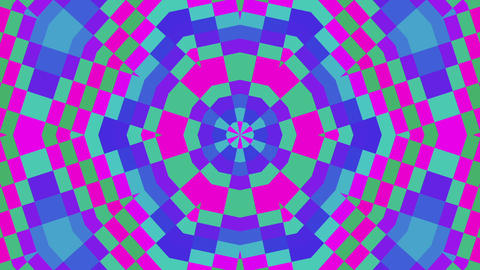 Psychedelic Colorful Lines Angles Kaleidoscope Pulsing Motion Background Loop Animation