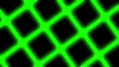 Simple Rotating Green Neon Glow Grid Abstract Motion Background Loop Animation