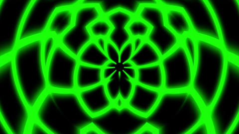Green Glowing Symmetry Curves Lines Abstract Pattern VJ Motion Background Loop Animation
