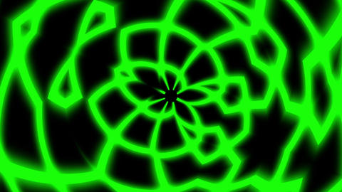 Green Rolling Glowing Symmetry Curves Lines Abstract VJ Motion Background Loop Animation