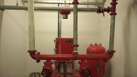 industrial and building fire alarm and water sprinkler system Footage