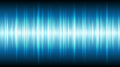 Blue glowing tech waveform equalizer video animation Animation