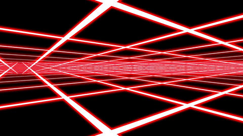 Red Disco Plane Grid Rays Retro Abstract Psychedelic Motion Background Loop 1 Animation
