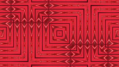 Red Square Grid Intricate Flowing Pattern Abstract Motion Background Loop 1 Animation