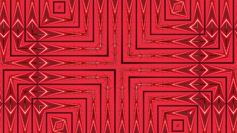 Red Square Grid Intricate Flowing Pattern Abstract Motion Background Loop 2 Animation