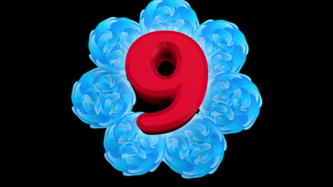countdown flower CG動画