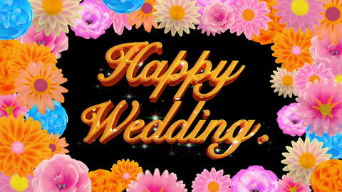 countdown Happy wedding CG動画