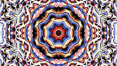 Metallic Chrome Colorful Hypnotic Rotating Kaleidoscope Motion Background Loop 1 Animation