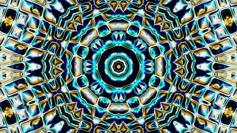 Metallic Chrome Colorful Hypnotic Pulsing Kaleidoscope Motion Background Loop 2 Animation