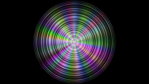Metal disc with color reflections, seamless loop Animation