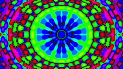 Psychedelic Colorful Stained Glass Kaleidoscope Motion Background Loop Fast 1 Animation