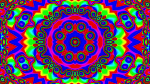 Psychedelic Colorful Stained Glass Kaleidoscope Motion Background Loop Slow 2 Animation