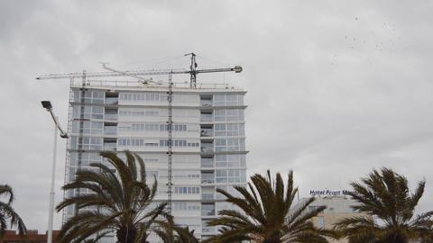 White Building Under Contruction Footage