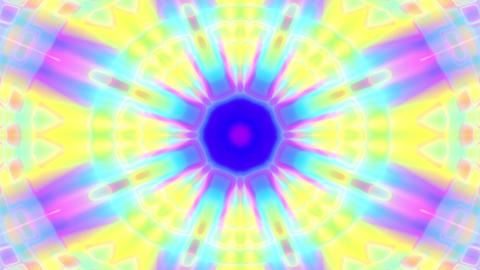 Colorful Glowing Luminous Kaleidoscope Mandala Motion Background Loop Slow 1 Animation