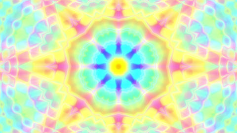 Colorful Glowing Luminous Kaleidoscope Mandala Motion Background Loop Fast 1 Animation