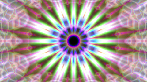 Burst Rays Ornate Magic Psychedelic Kaleidoscope VJ Motion Background Loop 1 Animation