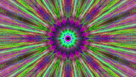 Burst Rays Ornate Magic Psychedelic Kaleidoscope VJ Motion Background Loop 3 Animation
