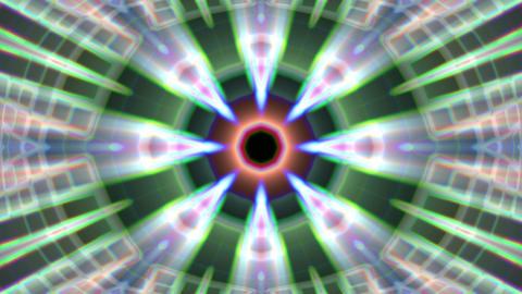 Burst Rays Complex Magic Psychedelic Kaleidoscope VJ Motion Background Loop 1 Animation