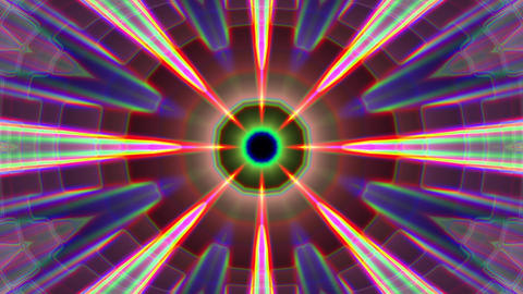 Burst Rays Complex Magic Psychedelic Kaleidoscope VJ Motion Background Loop 2 Animation